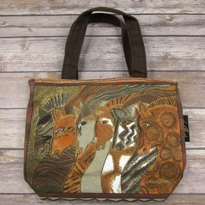 Laurel Burch Moroccan Mares Small Handbag Canvas